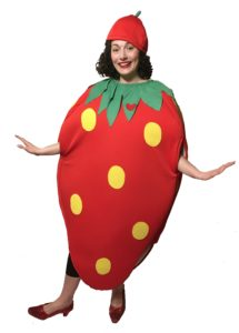 Adult Strawberry Costume Fruit Food Fancy Dress