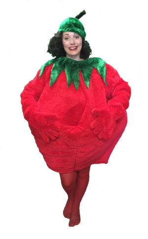 Adult Tomato Costume Fruit Vegetable Fancy Dress