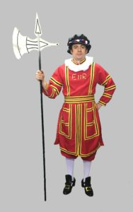 Male Beefeater Costume British London Fancy Dress