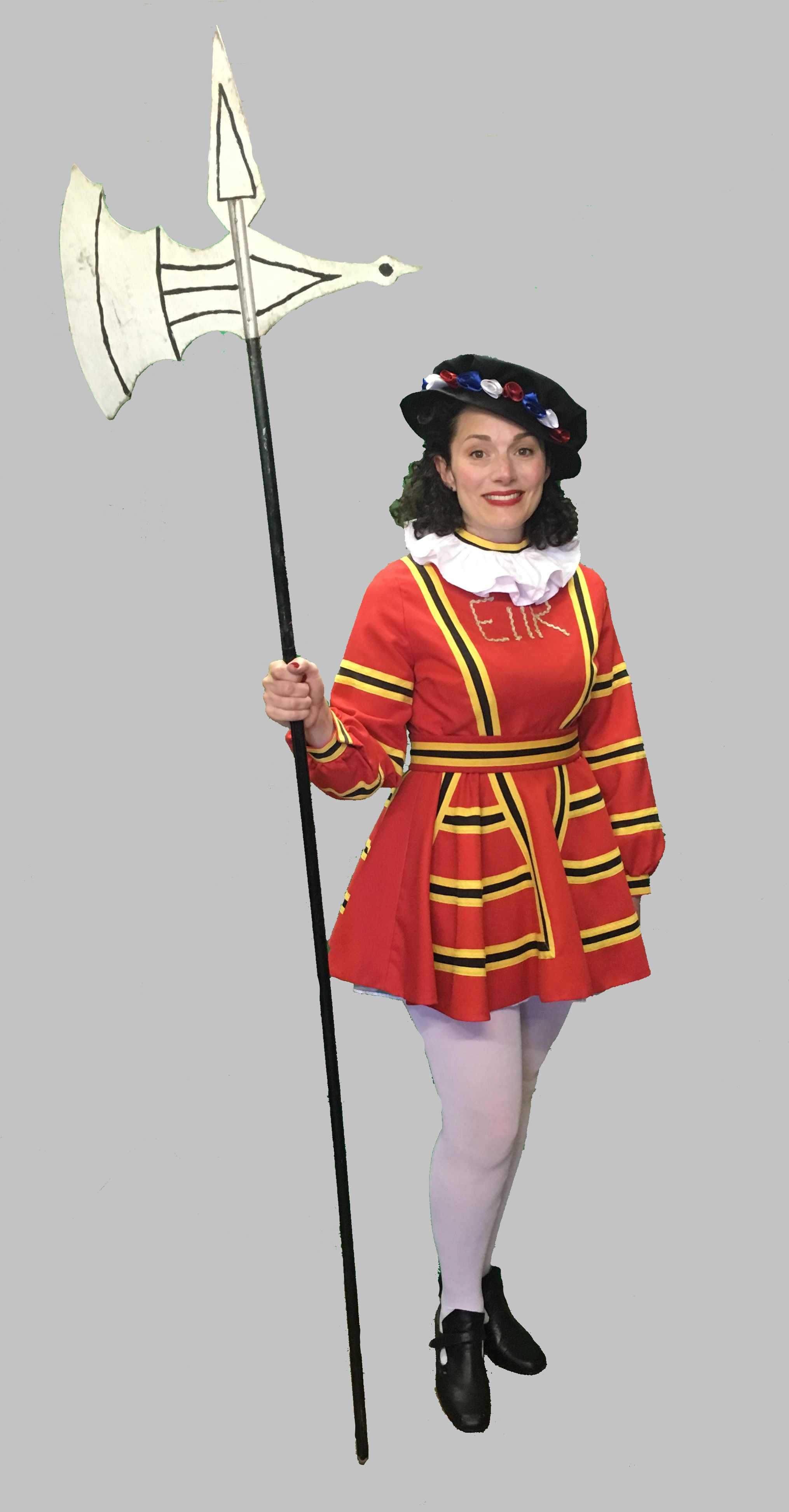 Female Beefeater Costume British London Fancy Dress