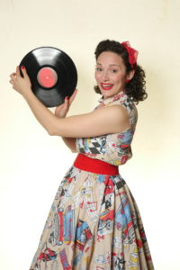 Rock n Roll 50's Art 2 Piece Top and Skirt Retro Costume