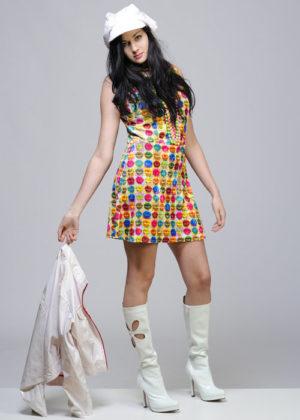 Warhol Pop Art Lips Print 60s Fancy Dress Costume 10 - 12