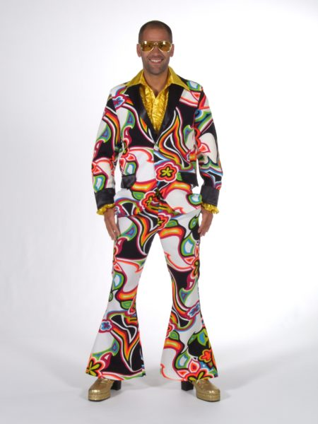 Psychedelic 70s Fancy Dress Mens Suit Disco Costume