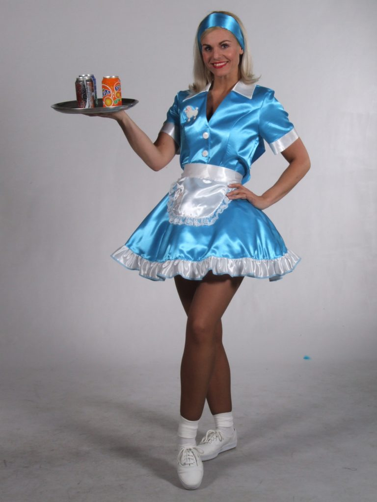 50s Waitress Fancy Dress Costume Diner Dress 10-12