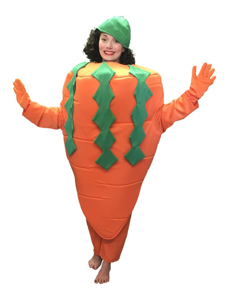 Adult Carrot Costume Vegetable Fancy Dress Food Outfit