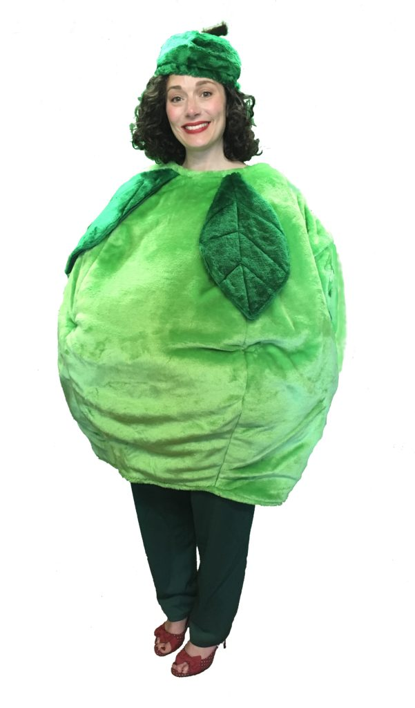 Adult Green Apple Costume Fruit Fancy Dress Outfit