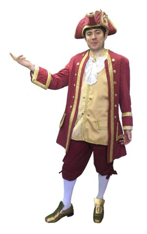 Burgundy with Gold Spot Georgian Costume Mens 40-42""