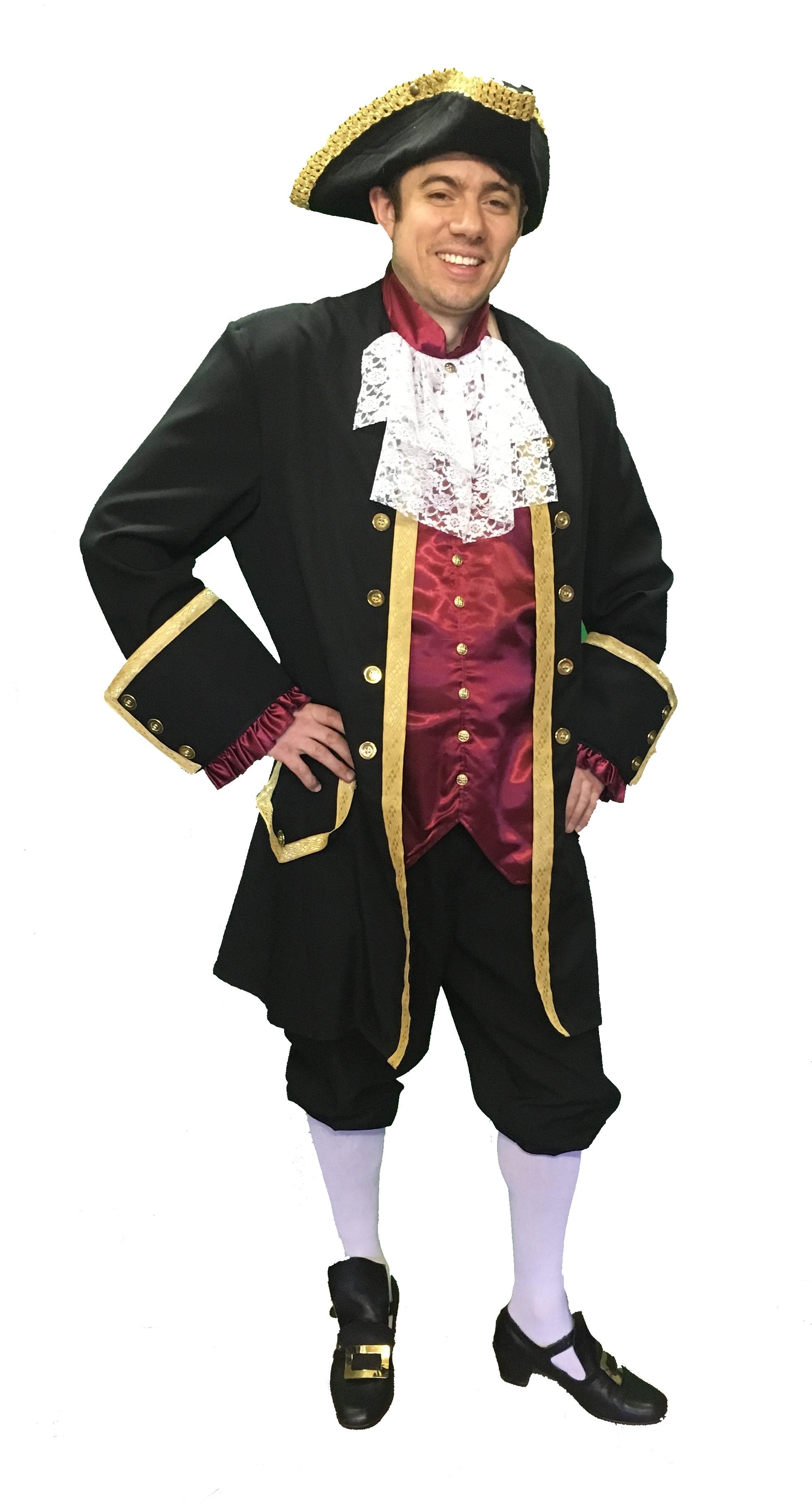 Mens Black Georgian Costume