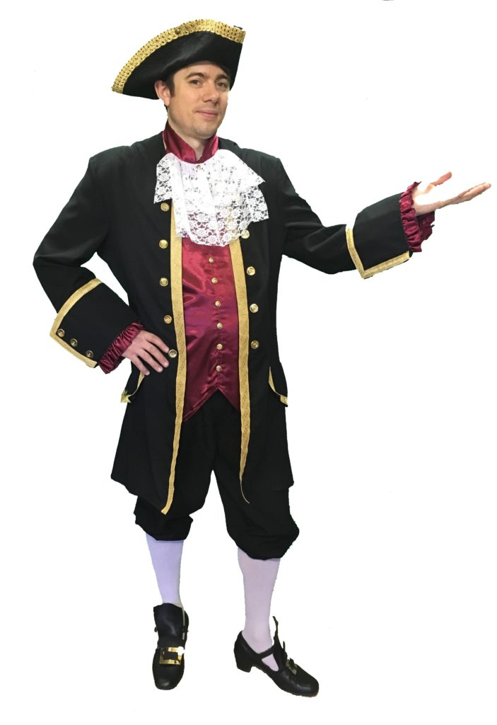 Dark Georgian Costume Male Masquerade Fancy Dress