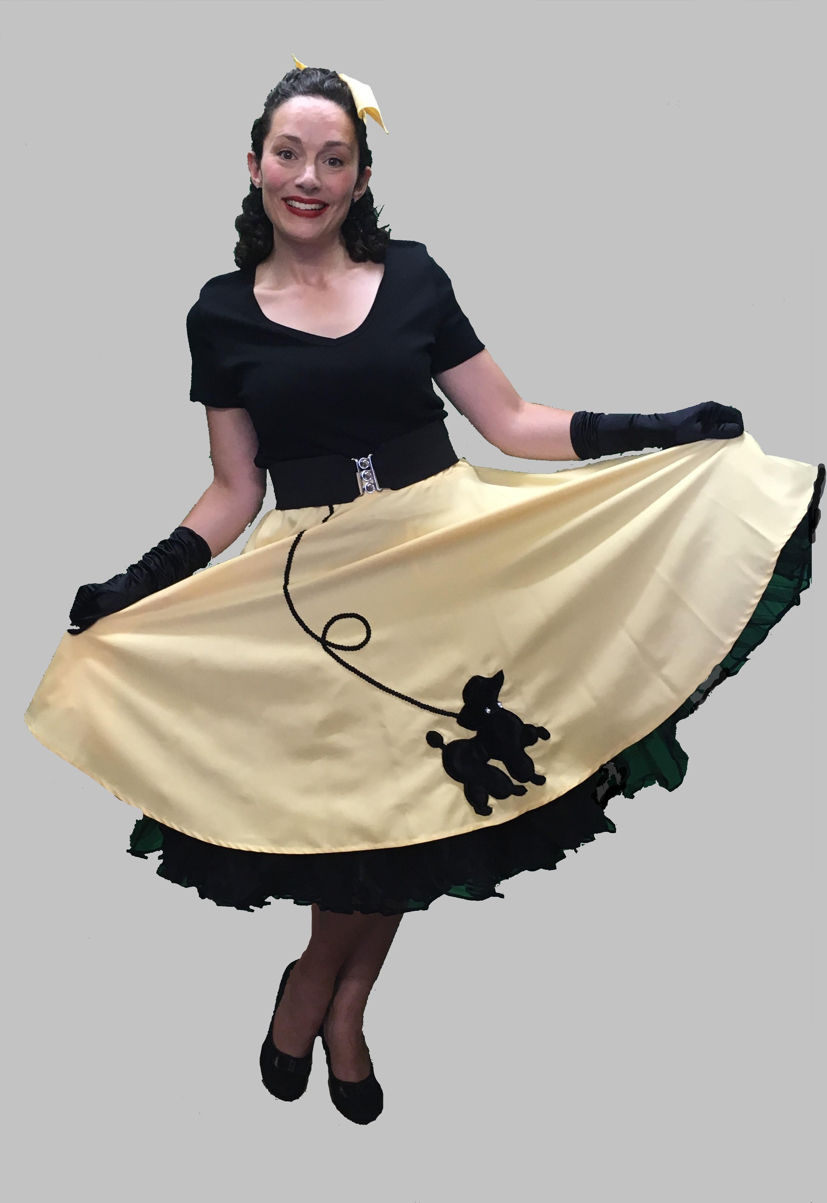50s Rock N Roll Skirt And Top 1950s Fancy Dress