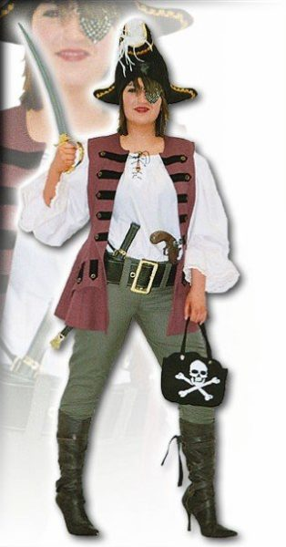 Swashbuckling Pirate Lady Fancy Dress Womens Costume
