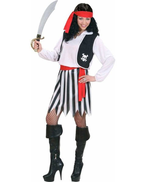 Pretty Lady Pirate Costume Women's Fancy Dress