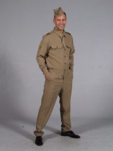 World War II 1940s American GI Fancy Dress Costume