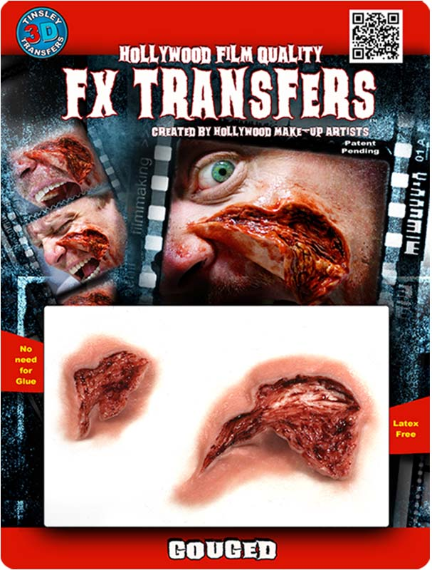 Skin Gouge Special Effects Makeup Transfer Kit for Halloween Horror