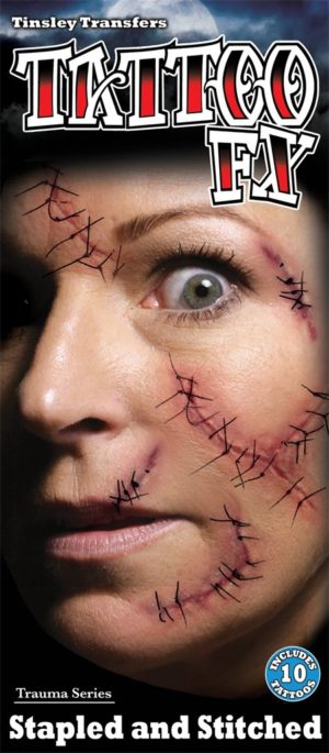 Stitches Scar Special Effects Makeup Transfer Kit for Halloween Horror