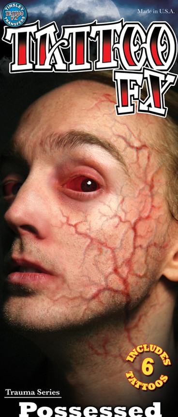 Special Effects Face Veins Possessed Zombie Special Effects Transfer for Halloween Horror