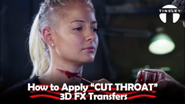 slit throat halloween special effects makeup