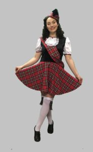 Short Scottish Dress, Scottish Highland Fancy Dress