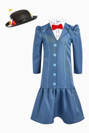 Girls Marry Poppins Costume Kids Disney Fancy Dress