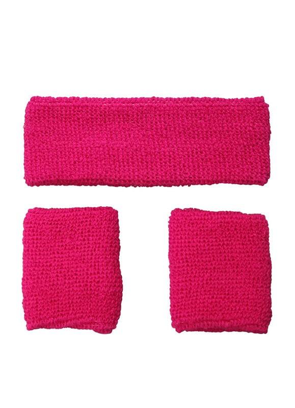 pink sweatband set