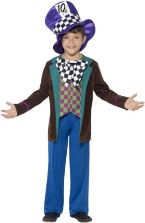 Mad Hatter Costume for Kids, World Book Day Fancy Dress