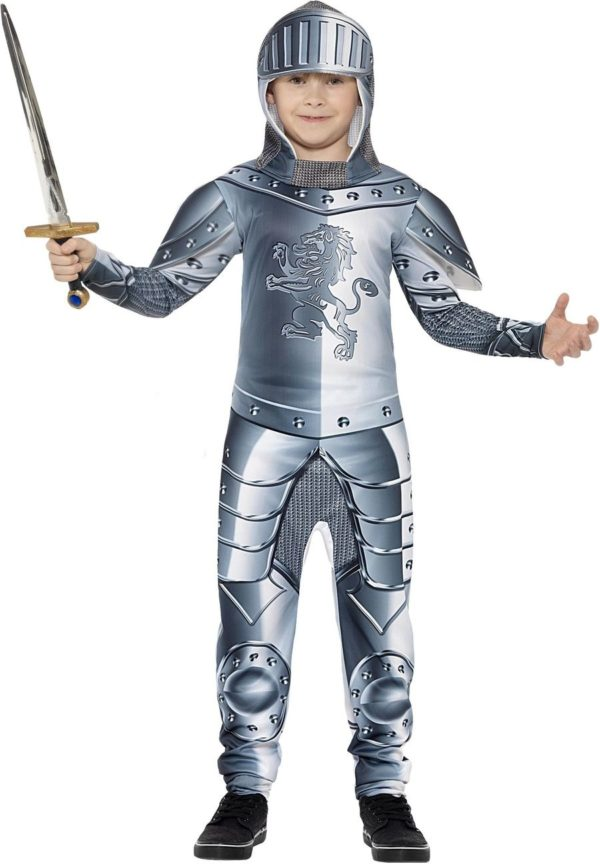 Knight Costume Kids Deluxe, Armoured Medieval Knight