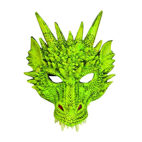 Green Dragon Mask, Green Dragon Head Mask, Fantasy Dragon Mask