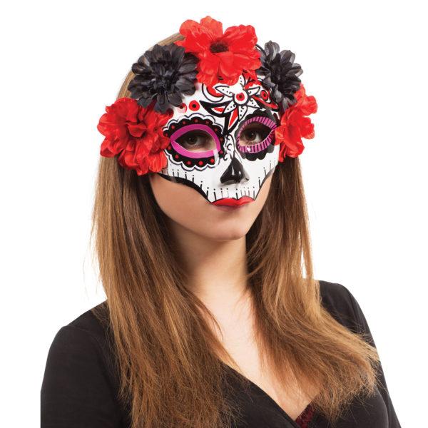 Day of the Dead Darling Mask, Halloween Mask, Female Skeleton Mask