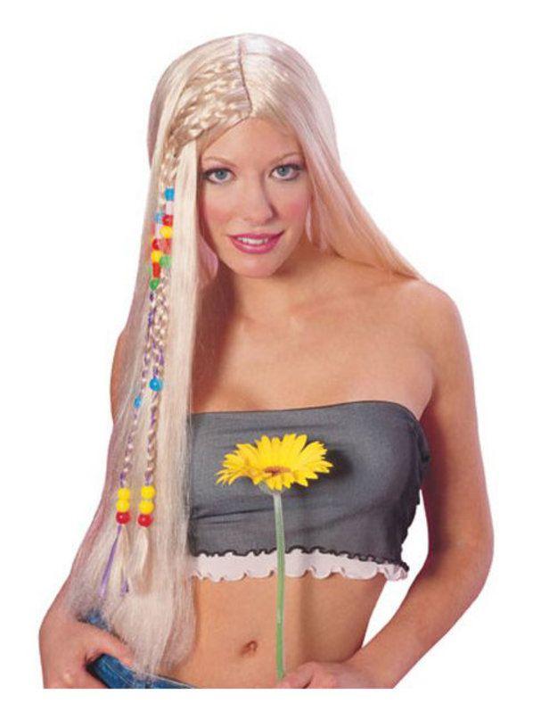 blonde hippy wig