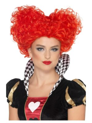 Queen of Hearts Wig, Red Wonderland Wig, Fairy Tale Heart Wig