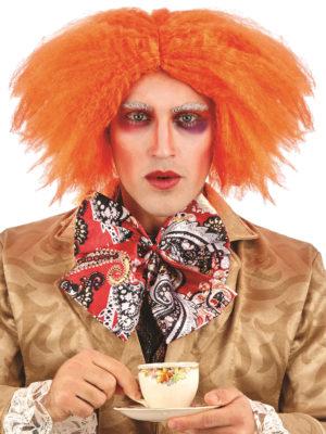 Ginger Curly Wig, Mad Hatter Wig, Orange Wig, Red Movie Wig