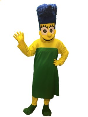 Marge Costume, Mum Simpson Fancy Dress, Adult