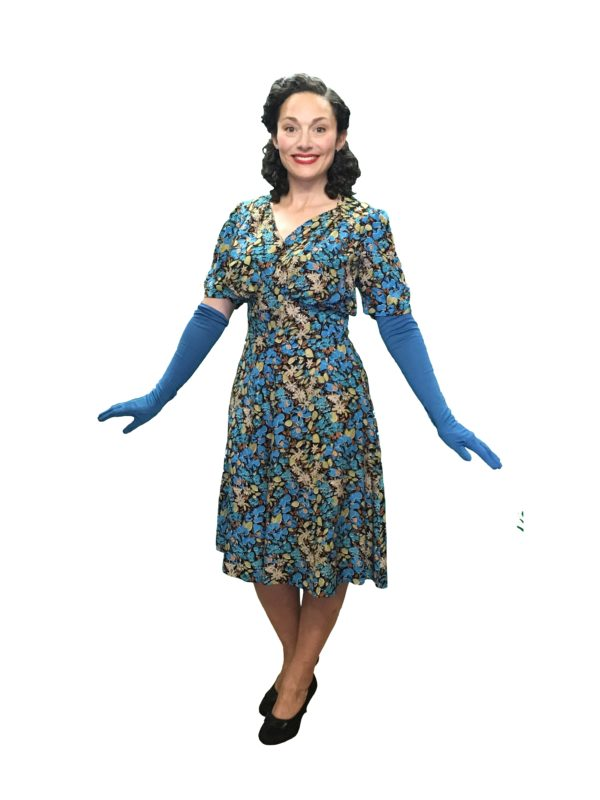 turquoise 40s dress