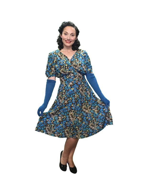1940s dress, wartime dress