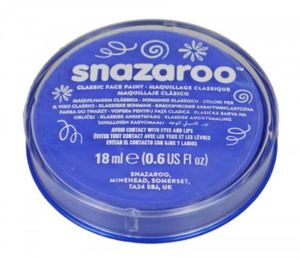 Blue Face Paint, Snazaroo Make Up, Body Paint 18ml