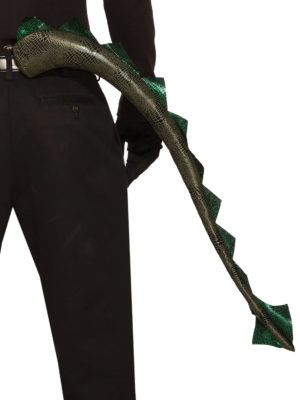Clip on Dragon Tail, Deluxe Green Dragons Tail Fancy Dress