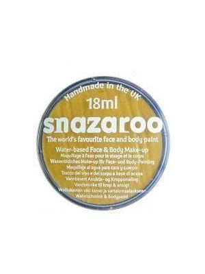 Metallic Gold Face Paint, Snazaroo Make Up, Body Paint 18ml