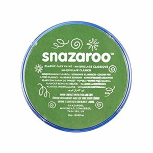 Green Face Paint, Snazaroo Make Up, Body Paint 18ml