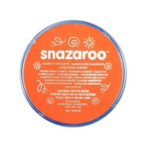 Orange Face Paint, Snazaroo Make Up, Body Paint 18ml