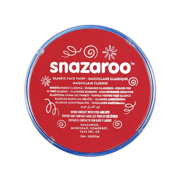 Red Face Paint, Snazaroo Make Up, Body Paint 18ml
