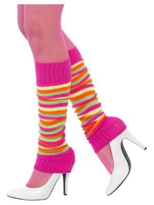 Striped Legwarmers, Neon 80s Accessories, Leg Warmers 80s