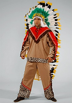 Native American Costume Mens, Western Fancy Dress XL