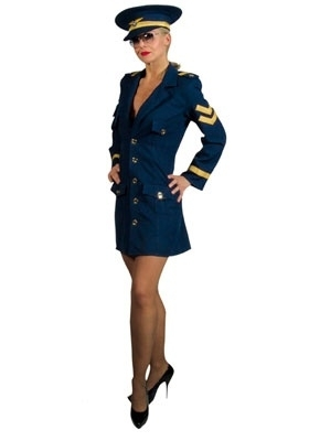 Female Pilot Fancy Dress, Sexy Airline Captain Costume