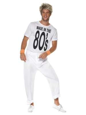Made in the 80s Costume, Mens 80s Fancy Dress, Wham Outfit