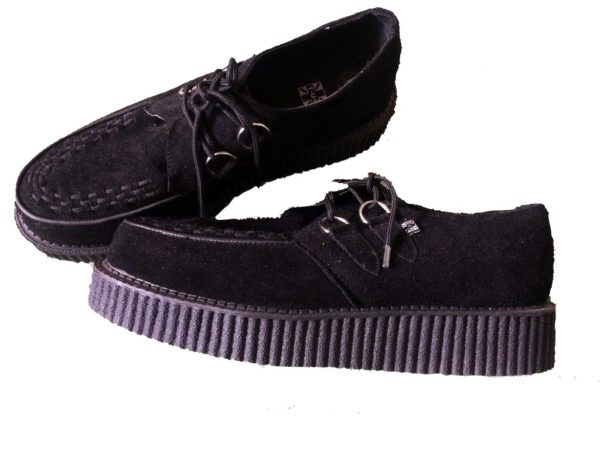 Teddy Boy Shoes, Brothel Creepers Black, 50s Mens Shoes
