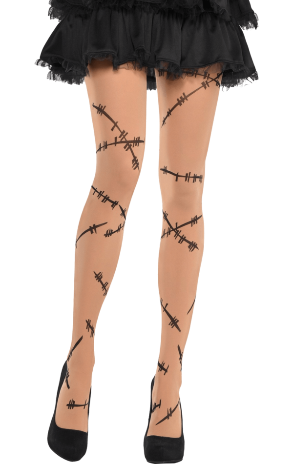 Stitched up Tights, Zombie Tights, Halloween Tights