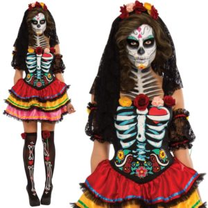 Day of the Dead Womens Costume, Day of the Dead Senorita