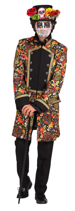Day of the Dead Mens Costume, Halloween Fancy Dress