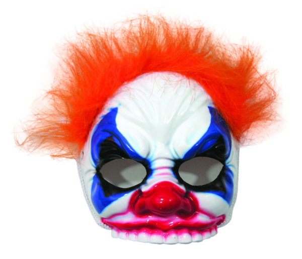 Scary Clown Mask with Hair, Evil Clown Halloween Mask