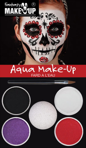 Day of the Dead Makeup Kit Aqua Cosmetic Set